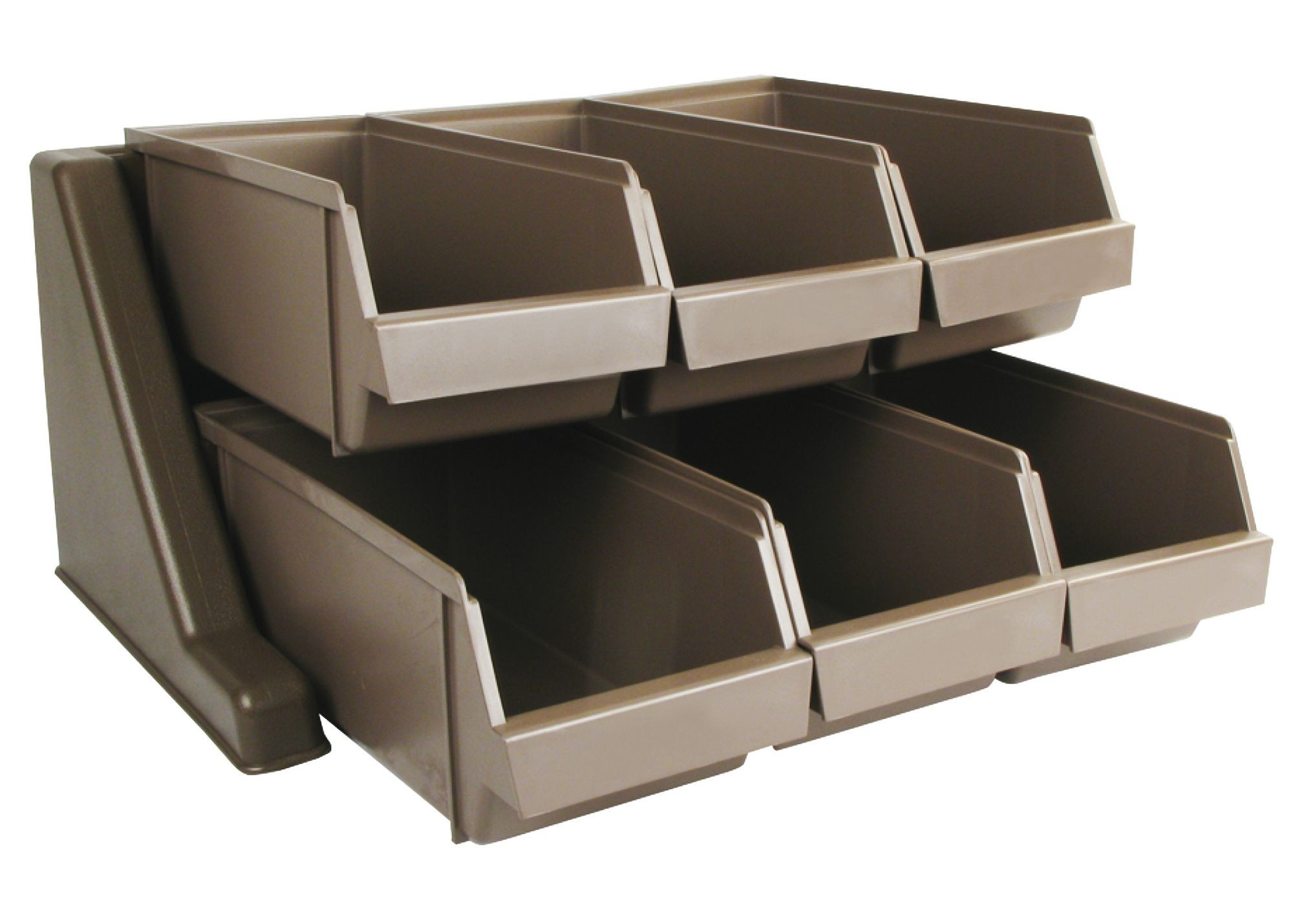 Winco OGZ-6 Plastic Bin Organizer Set with Rack and 6-Bins