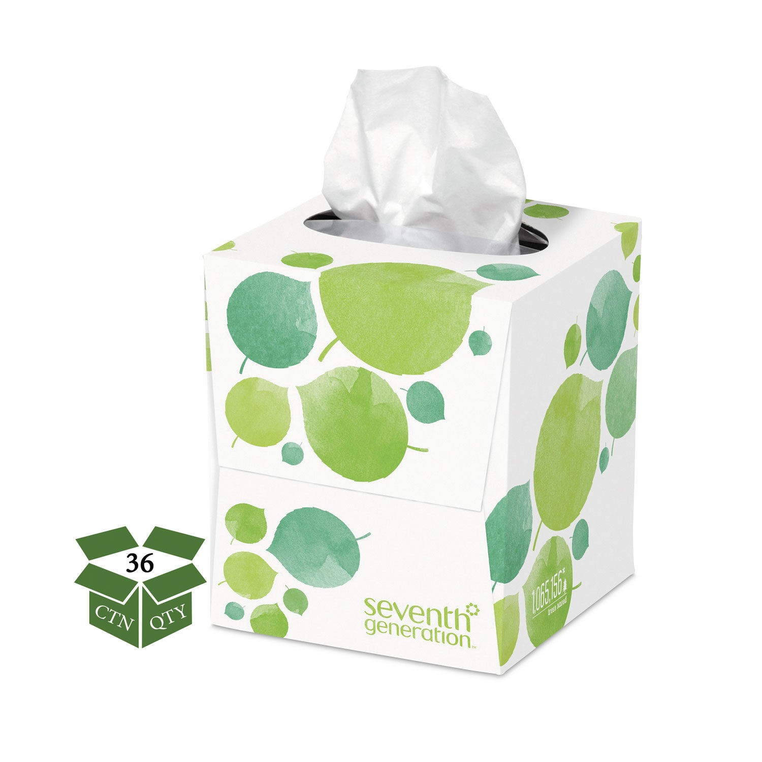 Seventh Generation 100% Recycled  2-Ply Facial Tissue, 36 Boxes/Carton