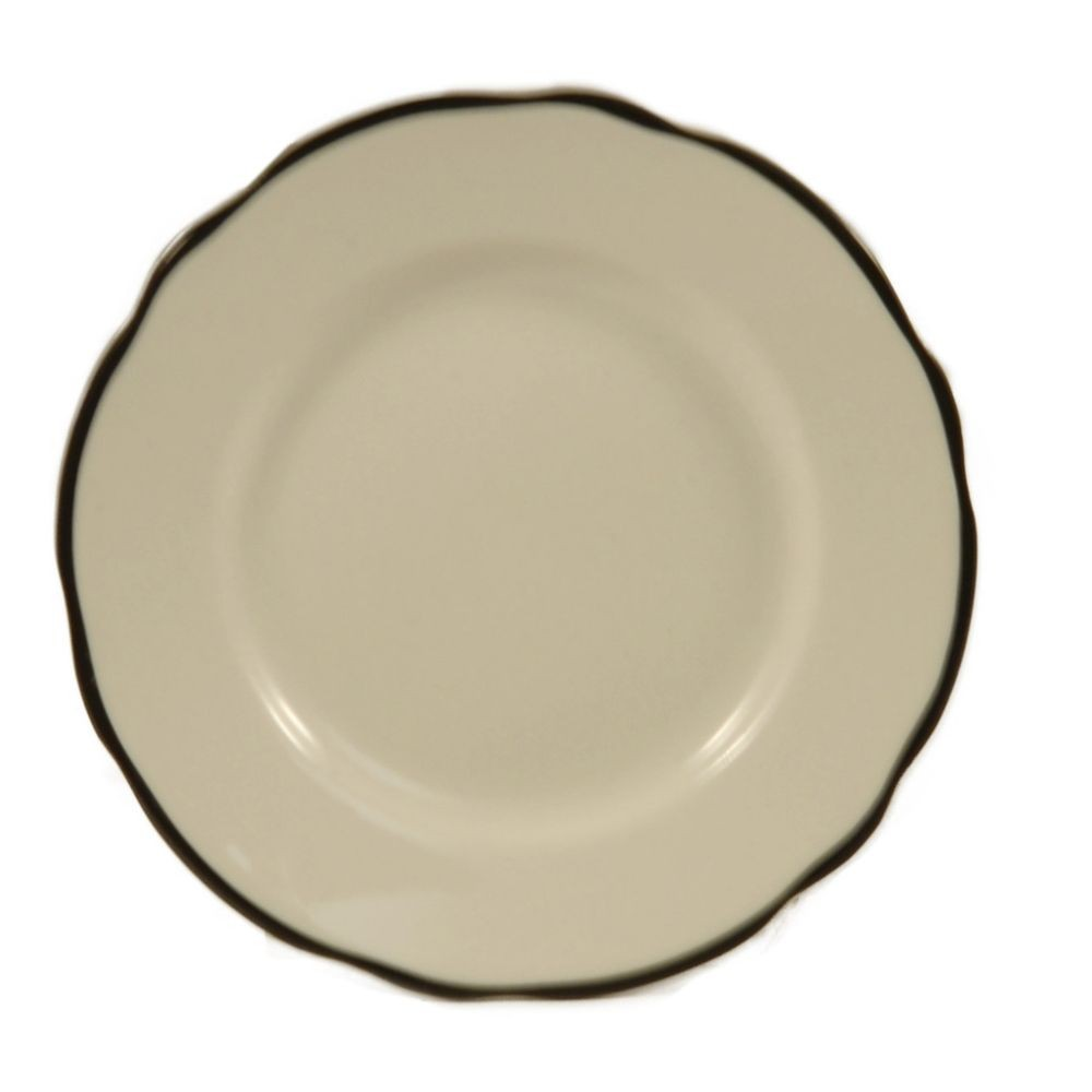 Seville Series Black Rimmed Plate, 7 3/8