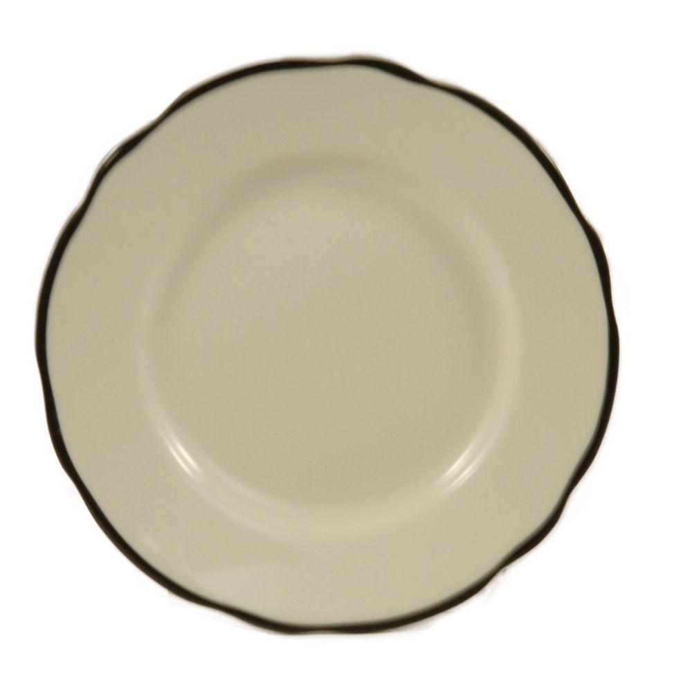 Seville Series Black Rimmed Plate, 10 3/4