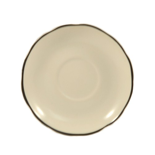 """CAC China SC-36B Seville Scalloped Edge A.D. Saucer with Black Band, 4-3/4"""""""