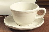 """CAC China sc-2g Seville Scalloped Edge Saucer with Gold Band 6 """""""