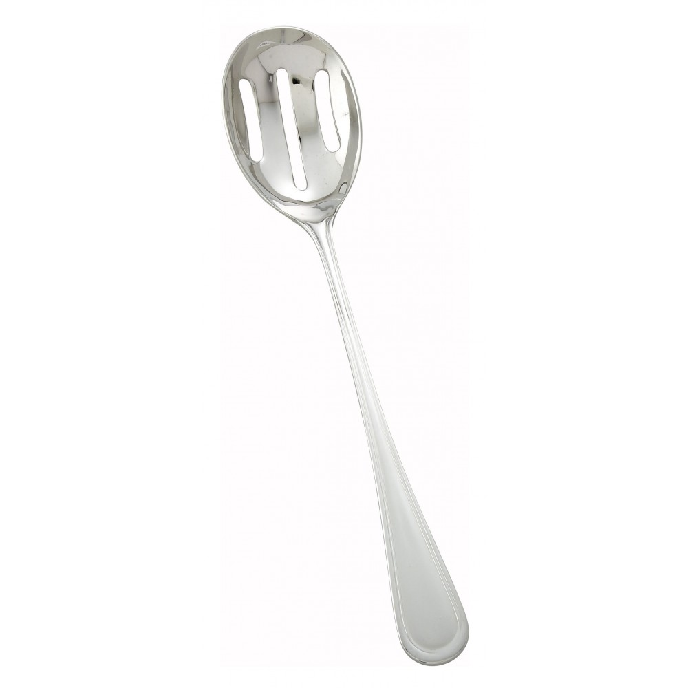 "Winco 0030-24 Shangarila Stainless Steel Banquet Slotted Spoon, 11-1/2"" (12/Pack)"