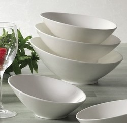 CAC China SHER-B9 Sheer Bone White Salad Bowl 26 oz.