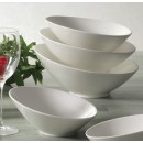 CAC China SHER-B10 Sheer Bone White Salad Bowl 36 oz.