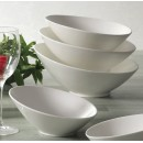 CAC China SHER-15 Sheer Bone White Salad Bowl 12 oz.