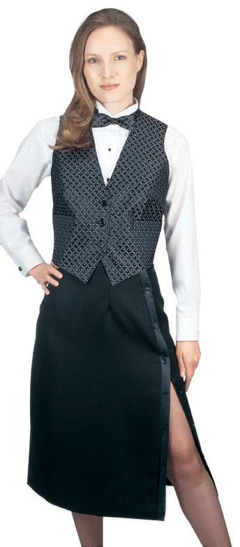 4bd4d5415f3 Side-Slit Black Tuxedo Skirt With Side Pocket - LionsDeal