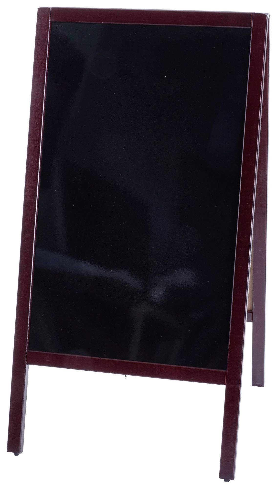 "Winco MBAF-3 Sidewalk A-Frame Marker Board Set, Mahogany Finish 20-1/4"" x 39-1/2"""