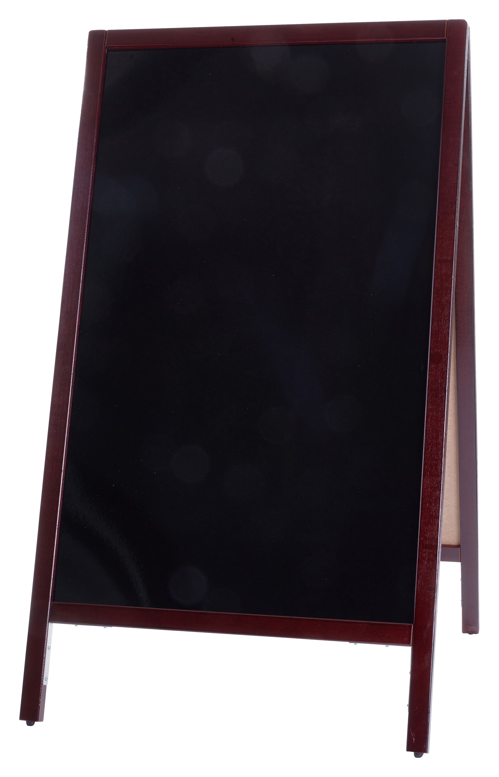 Sidewalk Marker Board - FULL SIZE - A FRAME, Mahogany (FREE Markers and Eraser With Every Purchase)