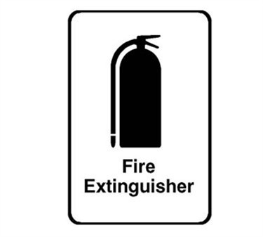 Franklin Machine Products  280-1162 Sign, Fire Extinguisher (6X9)