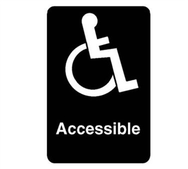 Sign, Handicap (Blue, 6X9)
