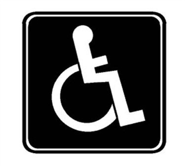Sign, Handicap (Blue 3X3)