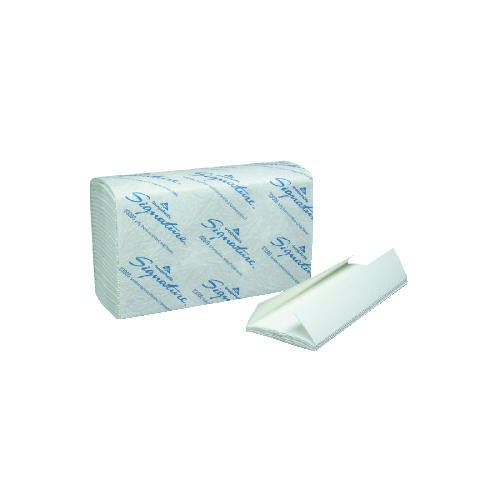 Signature C-Folded Paper Towel 13.5 X 10.25 2-Ply, White