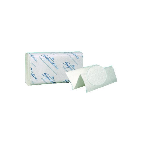 Signature Multi-Folded Paper Towel Premium 2-Ply, White