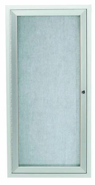 """Aarco Products ODCC2412R Silver Outdoor Enclosed Aluminum Bulletin Board- 24""""HX12""""W"""