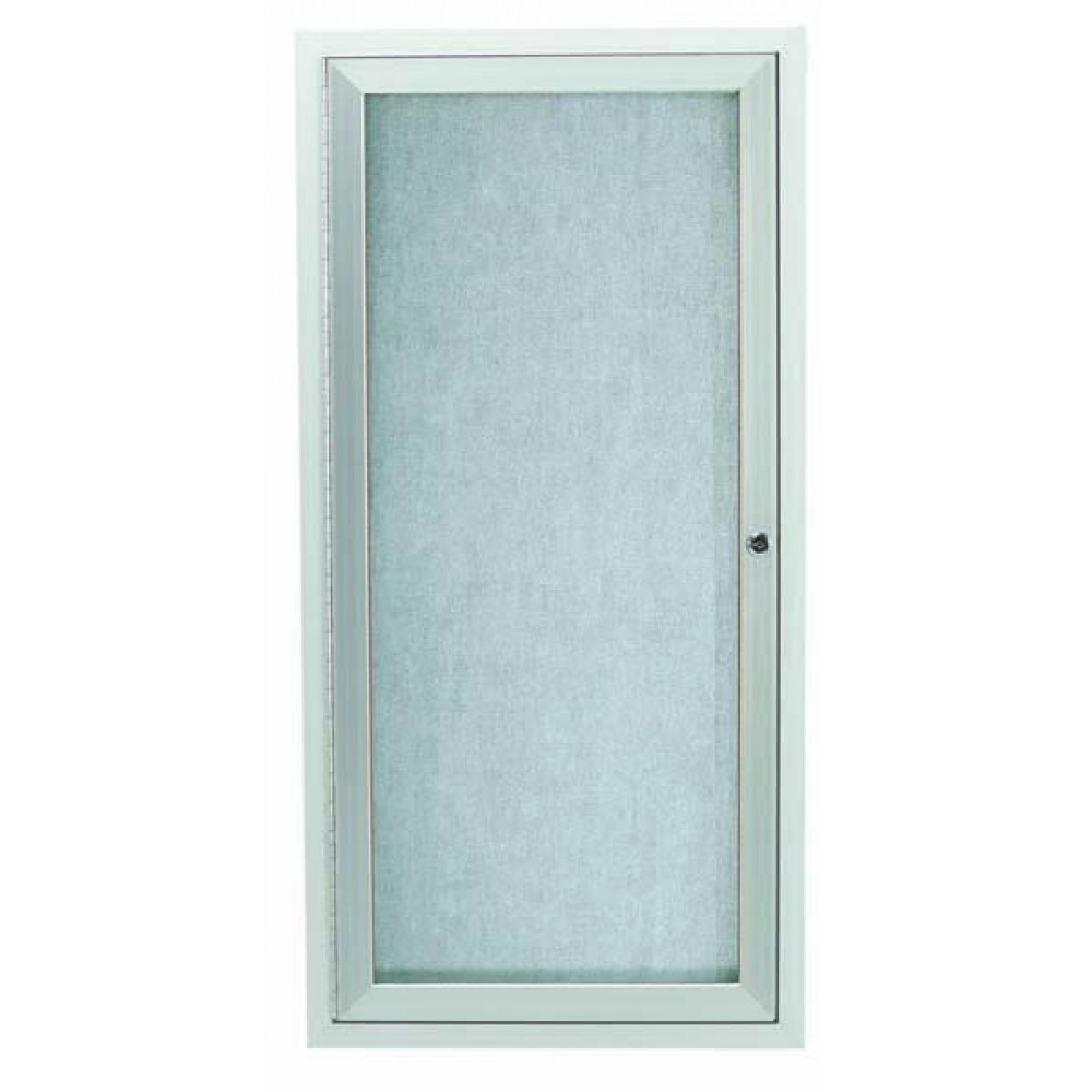 Silver Indoor / Outdoor Enclosed Aluminum Bulletin Board- 24