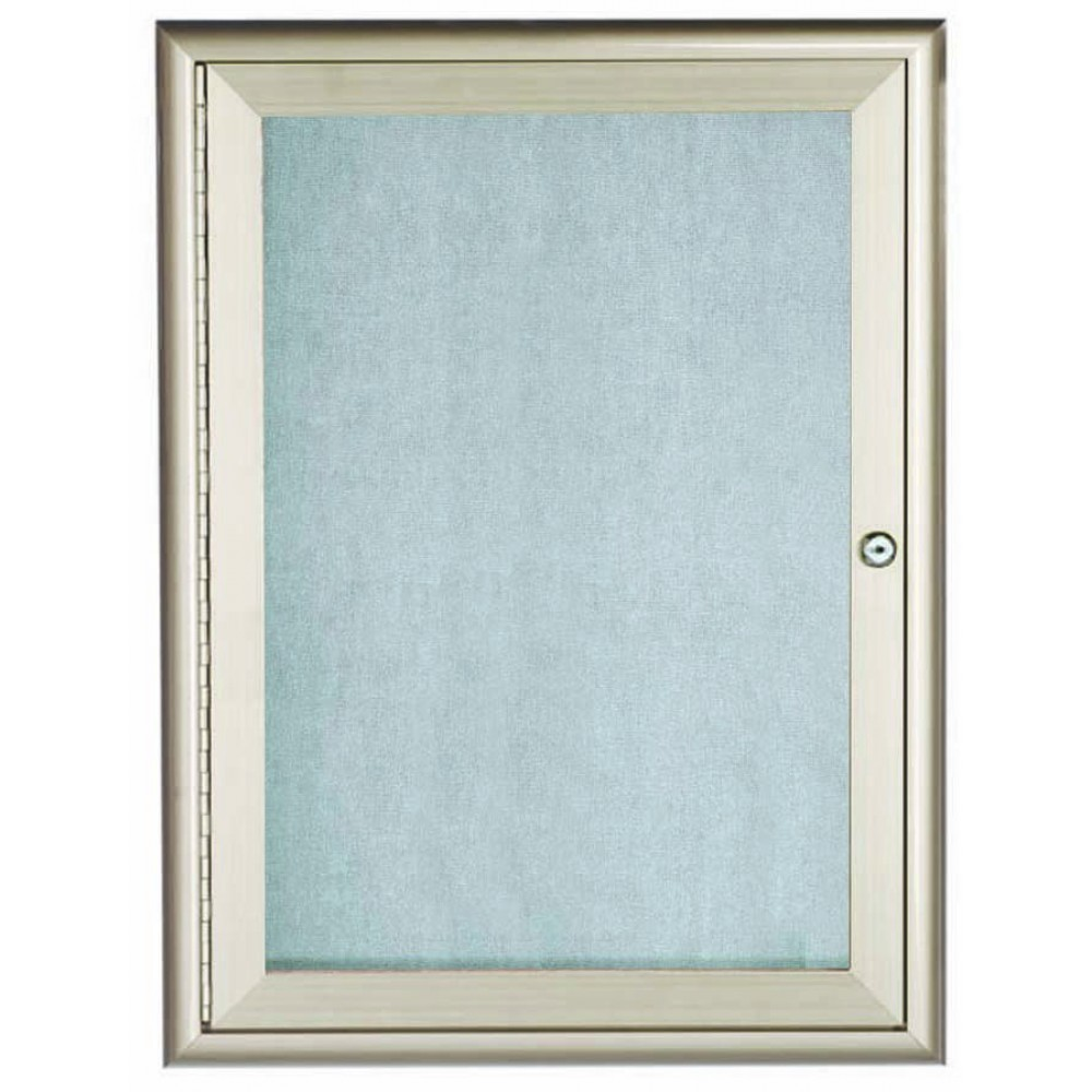 Silver Indoor / Outdoor Waterfall Series Enclosed Bulletin Board- 36