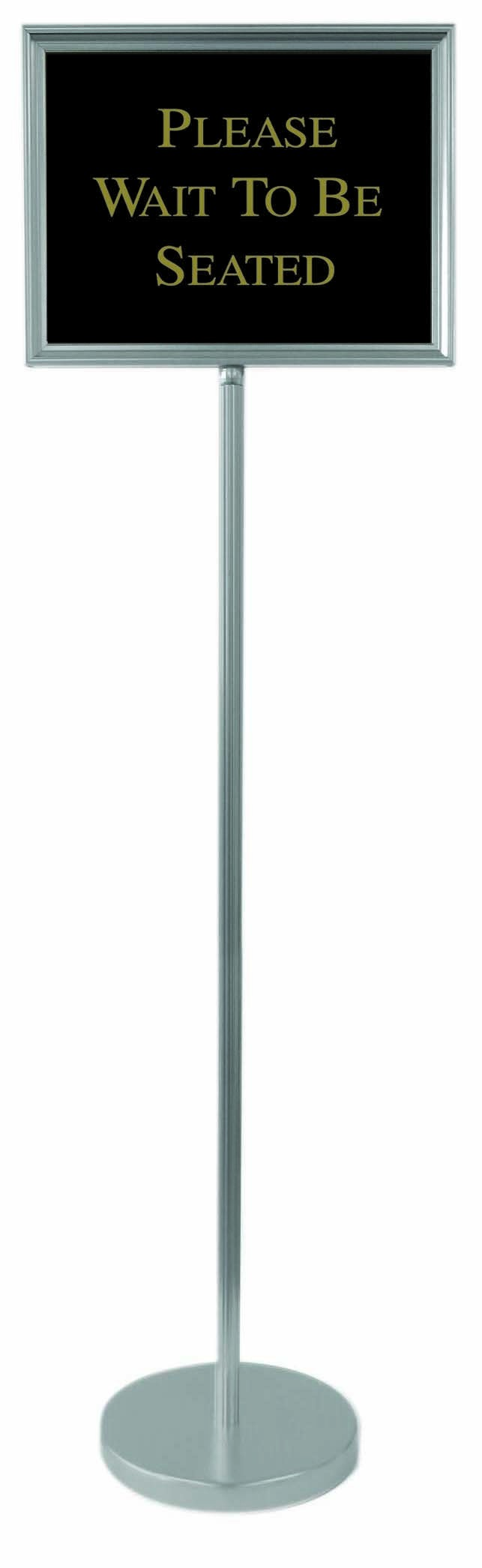 "Aarco Products TY-2CH Director Changeable Sign Stand with Silver Frame 54""H"
