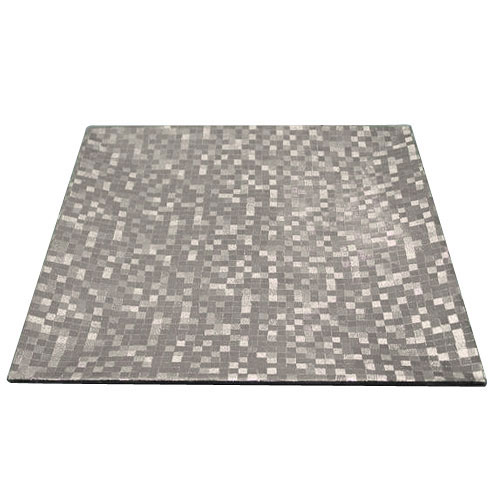 """Jay Companies 1427368BK Mosaic Silver Square 12"""" Charger Plate"""