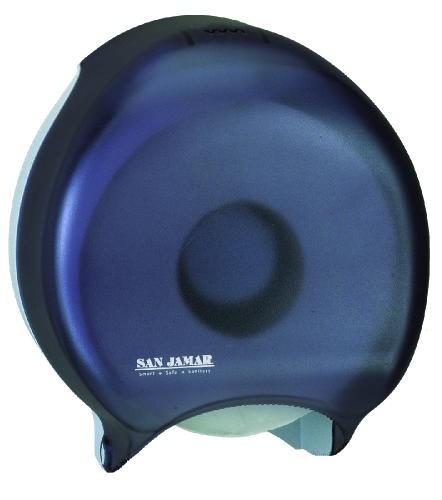 Single Jumbo Toilet Tissue Dispenser, 1 Roll, 10-5/8 x 5-3/4 x 12, Black Pearl