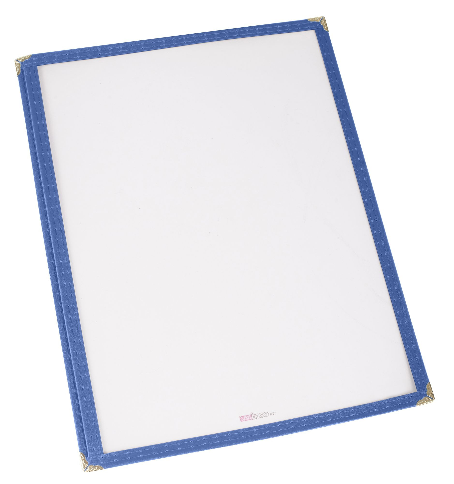 "Winco PMC-9B Blue Single Fold Menu Cover 9-1/2"" x 12"""