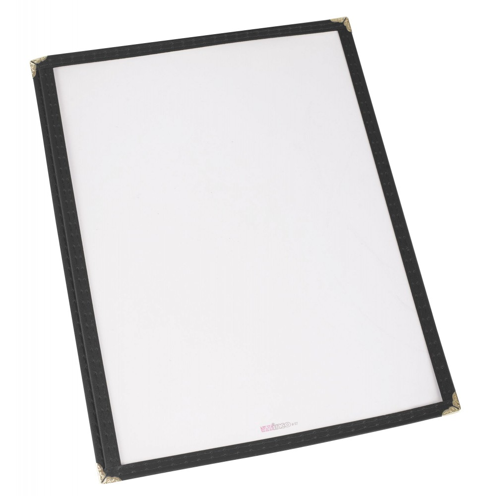 "Winco pmc-9k (Black) Single Fold Menu Cover 9-1/2"" x 12"""