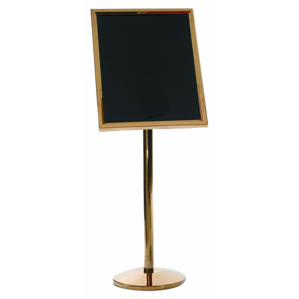 Single Pedestal Broadcaster- Brass Frame with Markerboard