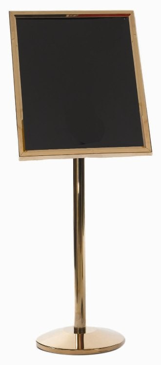 Aarco Products P-5B Single Pedestal Menu Stand, Brass