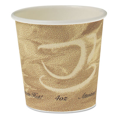Single Sided Poly Paper Hot Cups, 4 OZ, Mistique design
