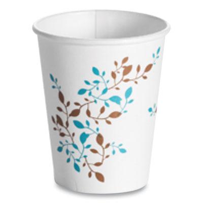 Single Wall Hot Cups, 8 oz, Vine, 1,000/Carton