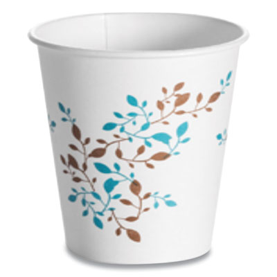 Single Wall Hot Cups 10 oz, Vine, 1,000/Carton