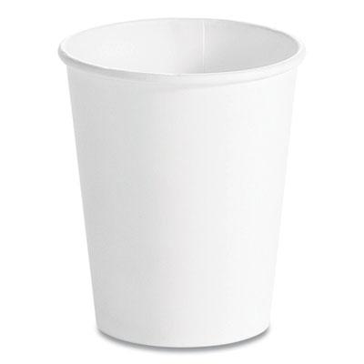 Single Wall Hot Cups 12 oz, White, 1,000/Carton