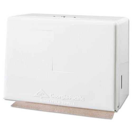 Singlefold Steel Towel Dispenser, White 7.38
