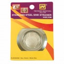 Thunder Group SLSN002W Medium Wide Rim Stainless Steel Sink Strainer