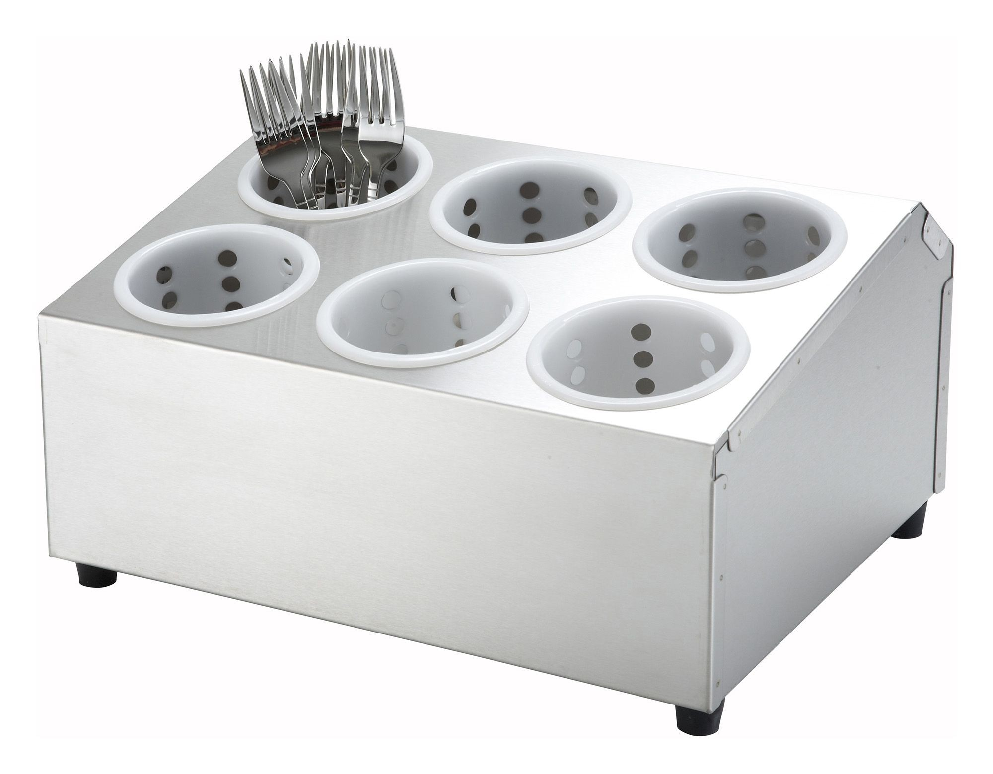 Six-Hole 2-Tier Flatware Cylinder Holder