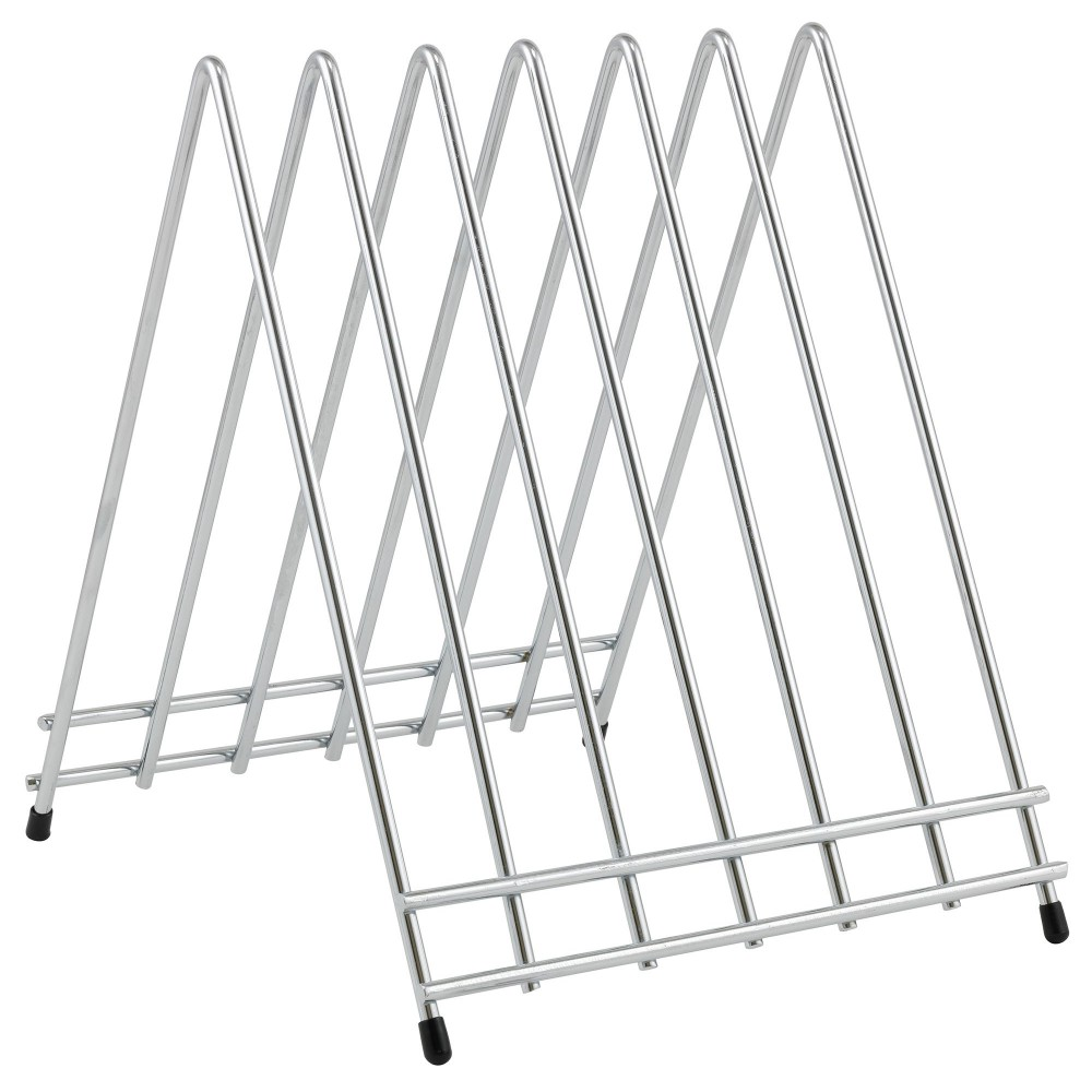Winco CB-6L 6-Slot Chrome-Plated Cutting Board Rack