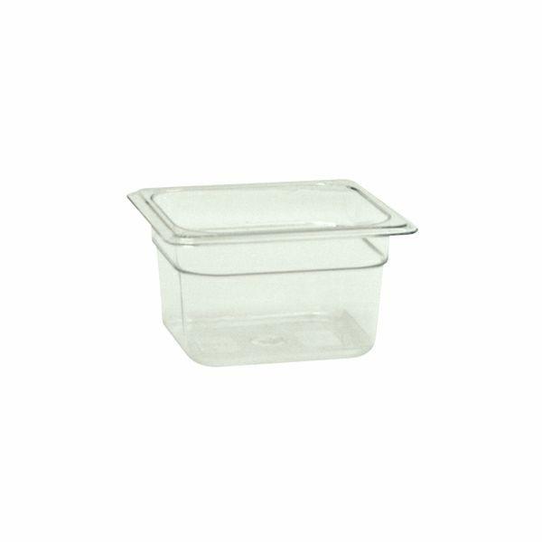"Thunder Group PLPA8164 Sixth Size 4"" Deep Plastic Food Pan"