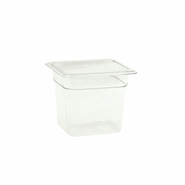 Thunder Group PLPA8166 Sixth Size Plastic Food Pan