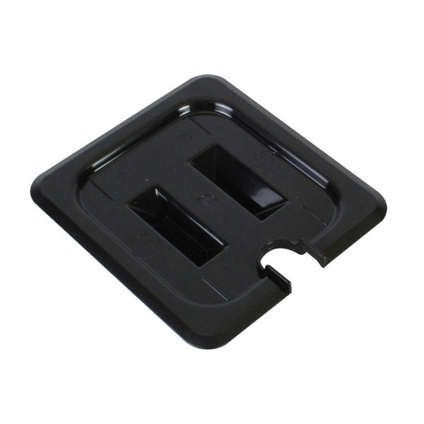 Sixth Size Slotted Cover For Polycarbonate Food Pan, Black