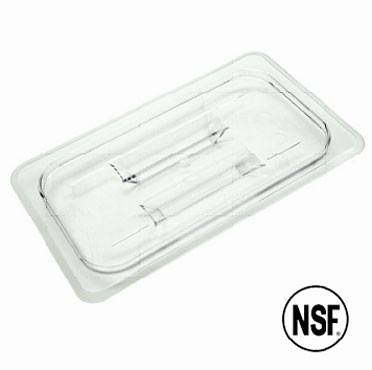 Thunder Group PLPA7160C Sixth Size Solid Cover for Polycarbonate Food Pan