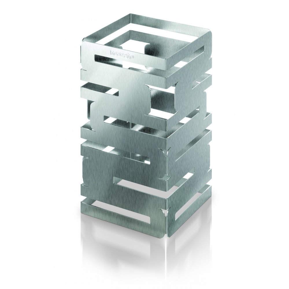 "Rosseto D62077 Skycap Stainless Steel Brushed Finish Square Multi-Level Riser6"" x 6"" x 12""H"