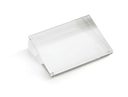 "TableCraft ACHS46 Slanted Rectangular Acrylic Card Holder, 4"" x 4"" x 6"""