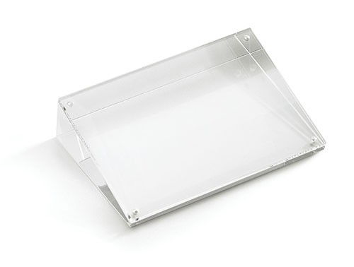 "Slanted Rectangular Acrylic Card Holder, 5"" x 5"" x 7"""