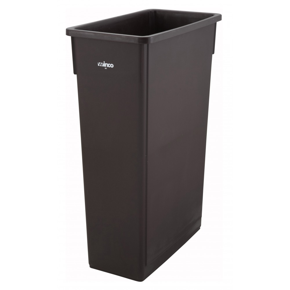 Slender Trash Can 23 Gallon Brown