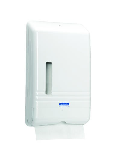 Slim Fold Towel Dispenser, White, 1 23.266 X 14.836 X 9.858