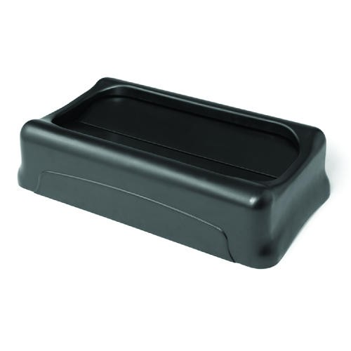 Slim Jim Rectangular Waste Container Swing Lid, Black
