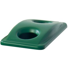Slim Jim Recycling Container Top for 3540/3541 Waste Bins, Green