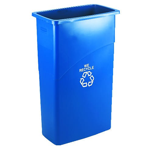 Blue Bottle// Can Recycling Cover For Slim Trash Can Plastic Lid for Recycling Plastic Bottles Bin Winco PTCB-23L