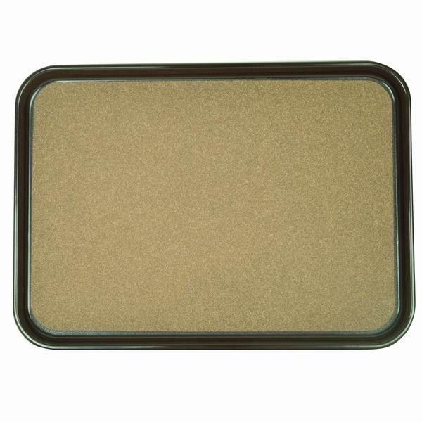 "Thunder Group PLRT1612CK Rectangular Slip Resistant Tray with Cork, 16"" x 12"""
