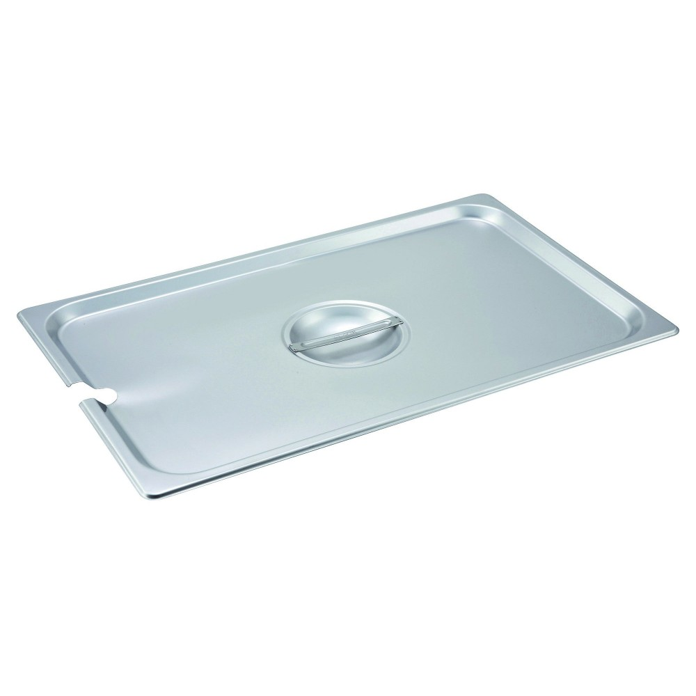 Winco SPCF Slotted Stainless Steel Full-Size Steam Table Pan Cover